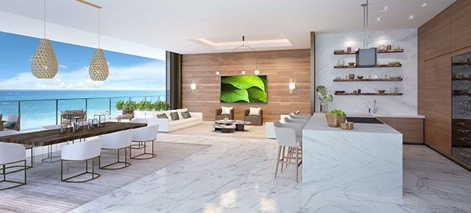 Muse Residences, in Sunny Isles, Florida, was developed in partnership with wellness firm Delos. | Source:  Delos  press release