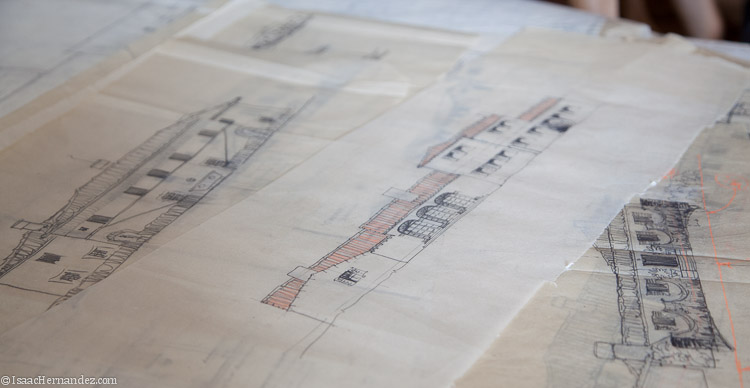 Original sketches & drawings by George Washington Smith found at the   Architecture and Design Collection of the Art Museum at the University of California, Santa Barbara  | Image:  by Isaac Hernandez