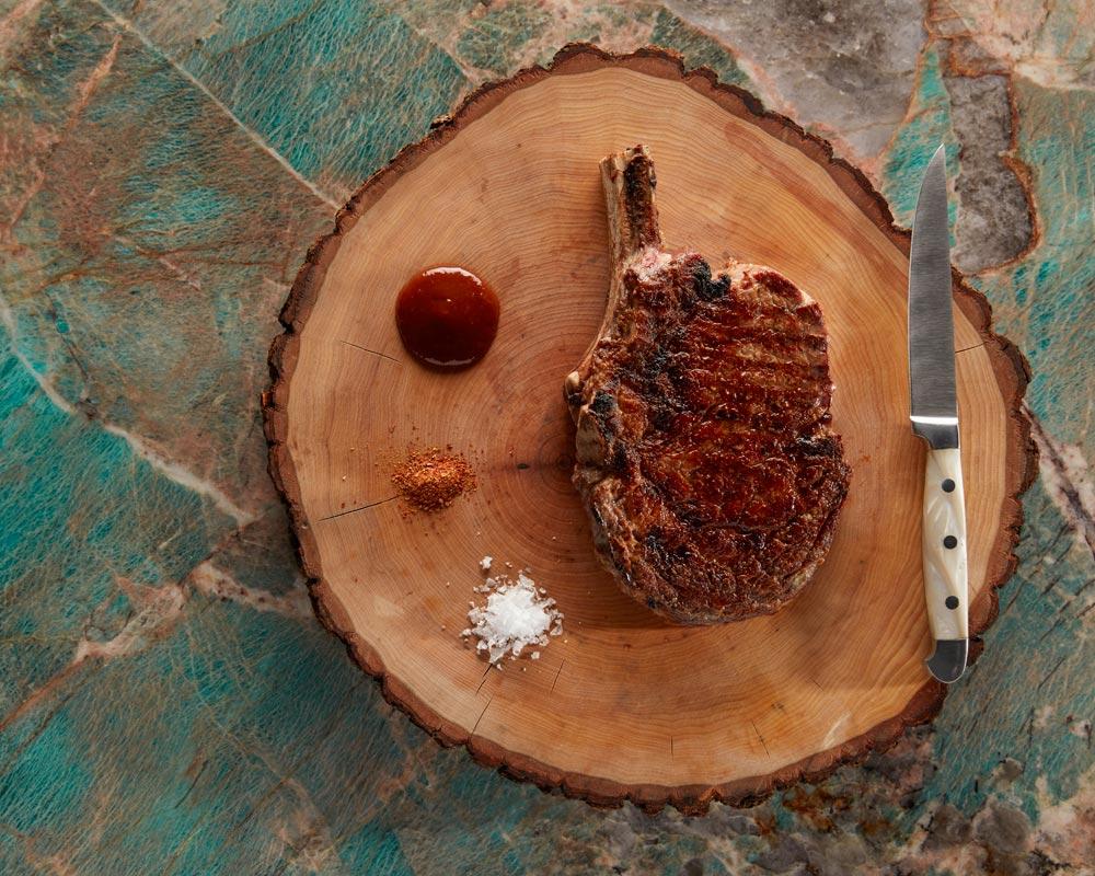 Bone-in rib-eye from Angel Oak at Bacara Resort & Spa - Marshall Williams