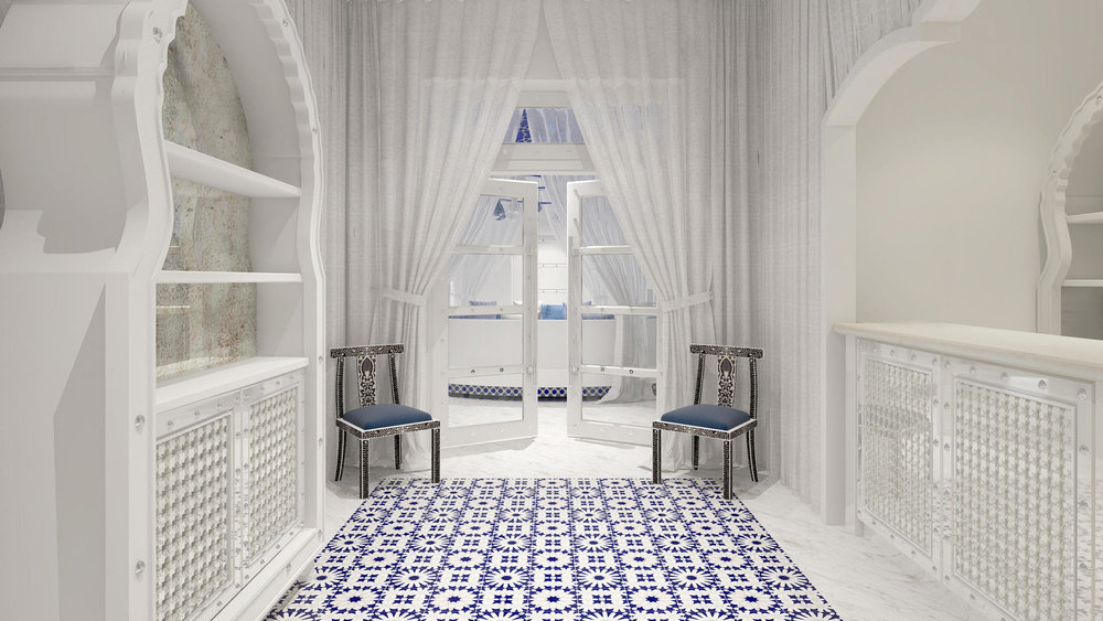 Majorelle Spa - one-of-kind exeperience with Marrocon and Spanish design to 'evoke a sense of active tranquility' || Image: Hotel Californian