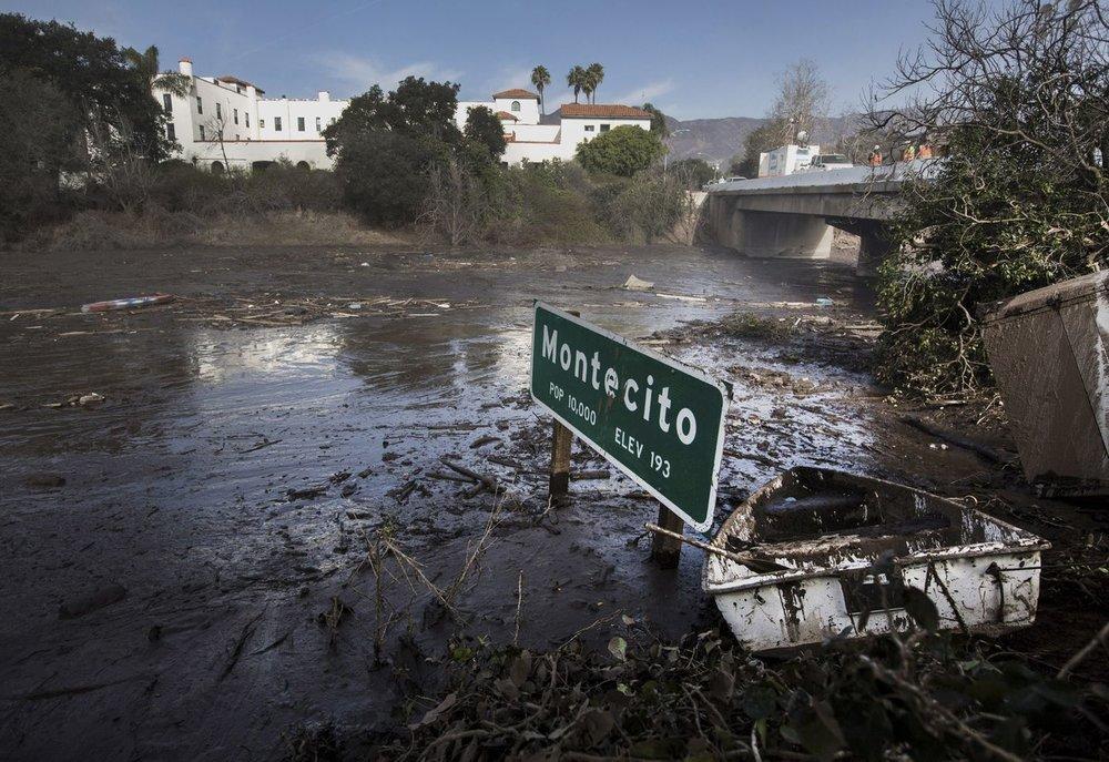 Freeway in Montecito post mudslide | Image: Los Angeles Times