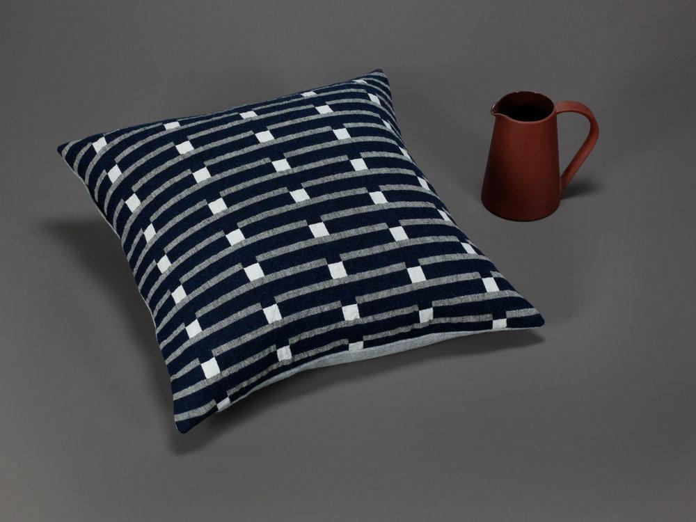 Broadchalke cushion – Ink Face