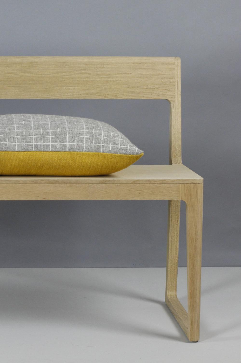 Sourdough cushion   limestone grey face