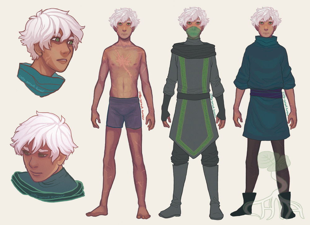 character sheet, full shading