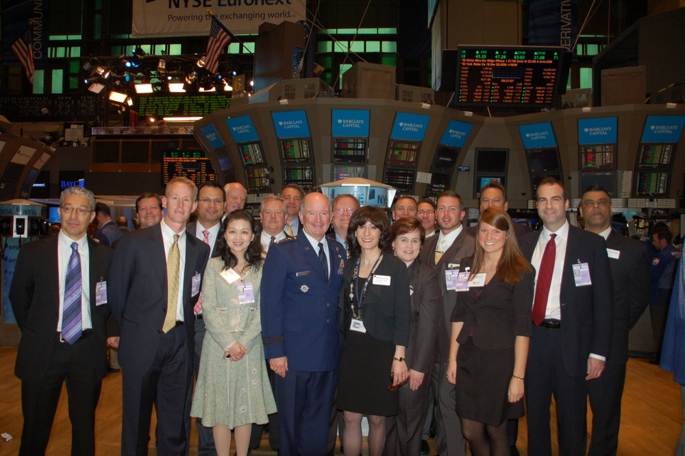 General McNabb, along with Senior Executive Board members from NYSE, Ingersoll Rand, Fidelity, GSK, Saudi Aramco, Wal-Mart, Bank of America, Pfizer, Cargill, and Kelly Services.