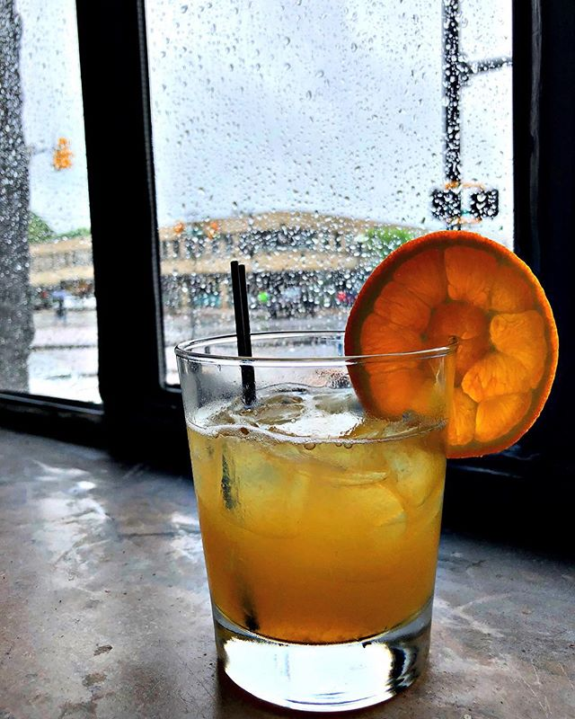 Tonight's special cocktail at BrickHaus, Have You Ever Seen the Rain! Wild Turkey 101, Gran Gala, lemon juice, simple syrup, deliciousness. See you soon... #mightymighty #rainraingoaway #arlingtonva #cocktails #happyhour