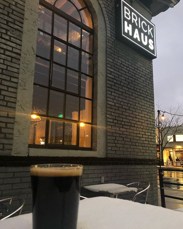 Don't let the weather get you down, we just tapped a bunch of tasty Väsen beer to drink!  #Väsen #mightymighty #ourhaus #cheers #novabeer #snowday