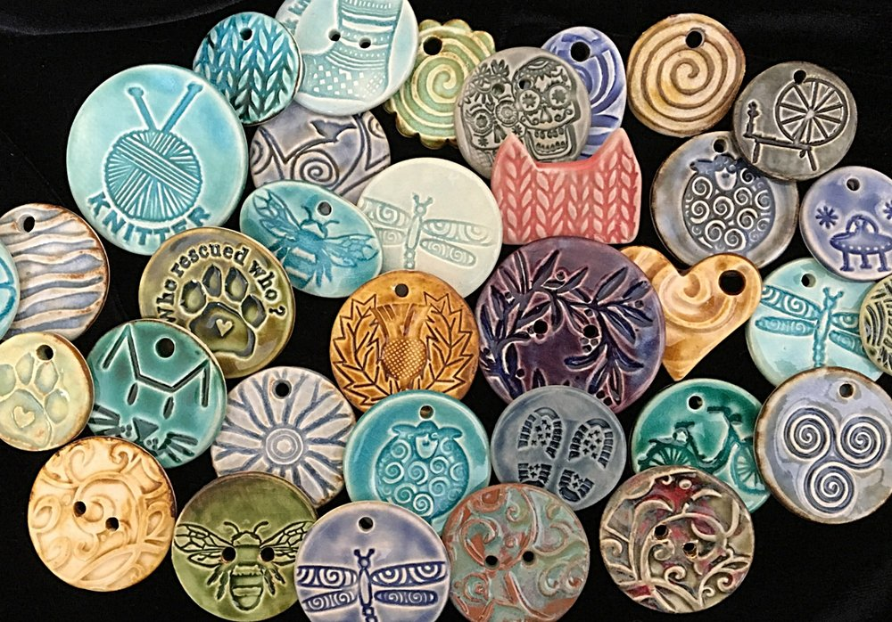 One of a Kind Ceramic Buttons