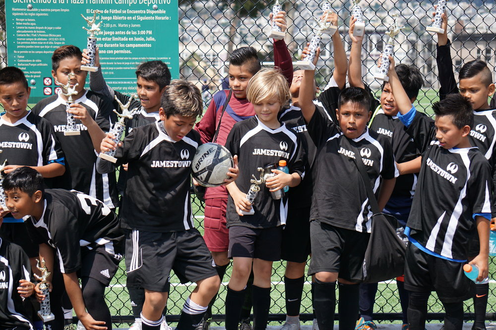 Congrats Jamestowners! The undefeated Jamestown Madrid Team (under 13 boys)