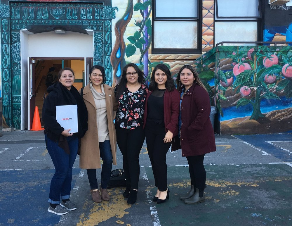 UnidosUs Representatives took a tour of Chavez Community School with Executive Director Myrna Melgar and Extended Learning Manager Maria Silvas.