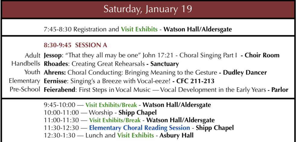 2019 Daily Schedule - *Please note the possibility of session topic changes and/or time slot changes to accommodate both our registrants and clinicians.