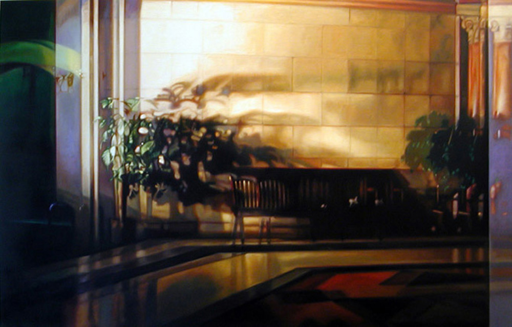 "Waiting    Oil on panel  42"" x 65 1/2""  2007"