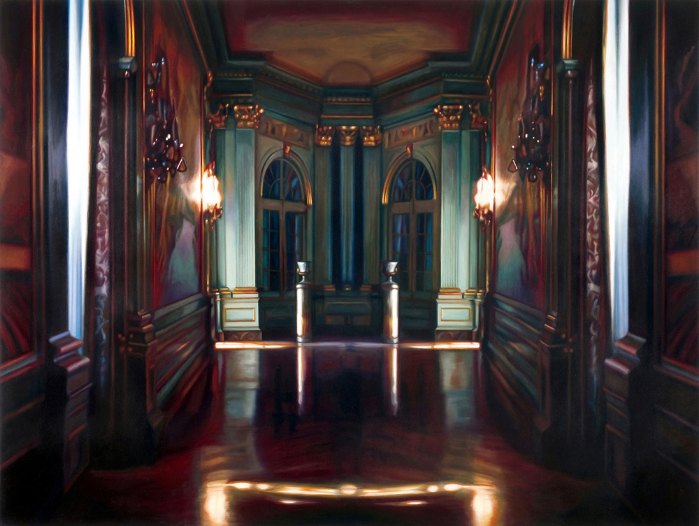 "Grand Ballroom    Oil on panel  45"" x 59""  2009"