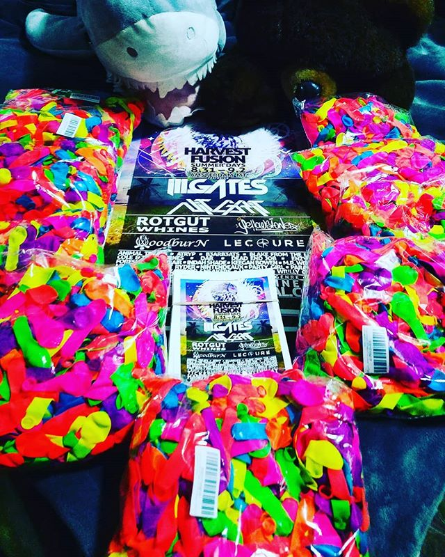 10000 water balloons for Harvest Fusion Summer Days!!! 🤘  10 days away. Be sure to grab your tickets online this week while they're still only $40! Ticket prices increase to $50 on the 27th, and will be $60 at the gate.  TICKETS & INFO AT: Harvestfusionfestival.com 🖤