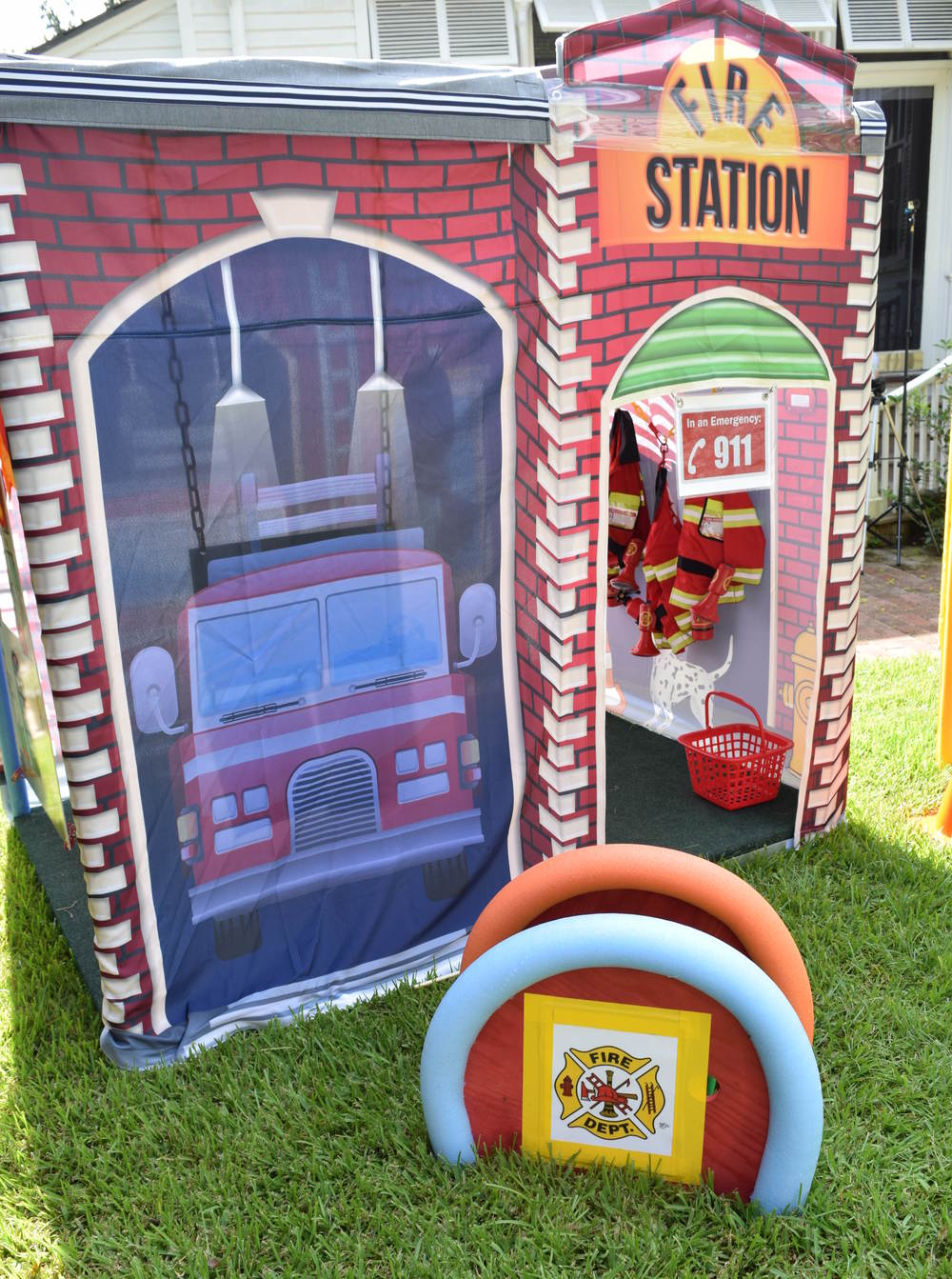 fire station exterior 1.JPG  sc 1 st  Pop Up Party Town & Pop Up Party Town - Fire Station Tent