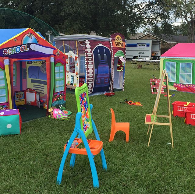 Rent Pop Up Party Town Today for your next event or party!! #nolakids #nolaliving #nolafamily #popuppartytown