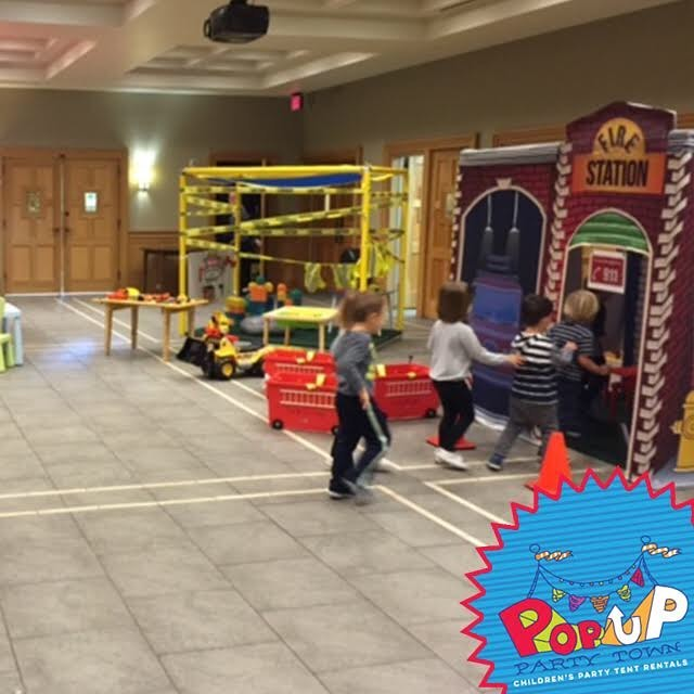 Tents so fun we have a line forming! Kids can't wait to get a chance to play in the #firehouse. #popupparty #kidspartyideas #kidsplaying