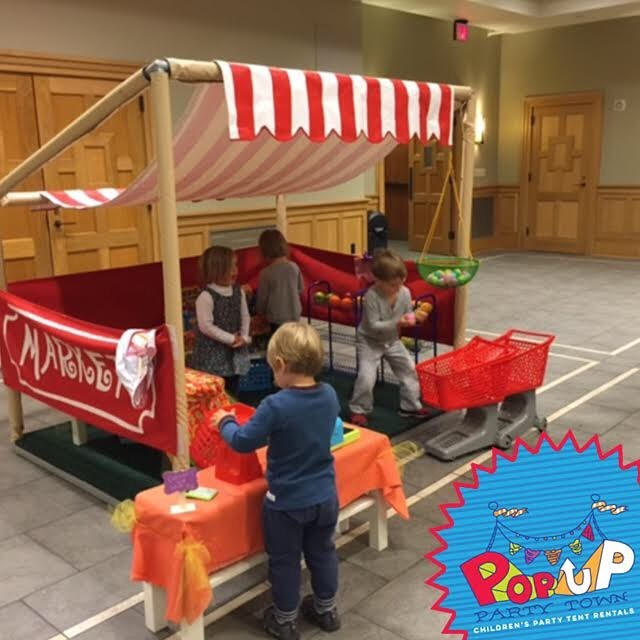 The market is open! Nothin' but #goodfood and #goodtimes with your kids at #Popuppartytown #kidspartyideas #kidsfun #marketplaces