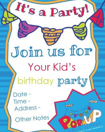 Do you have any ideas for your kid's birthday party? WE DO! How about a Pop Up Party? They're a great value, and if you book now, we will include custom invitation designs! Just check out www.popuppartytown.com for details #kidspartyideas #custominvitations #customdesign #partydecorations #popupparty #popuppartytown