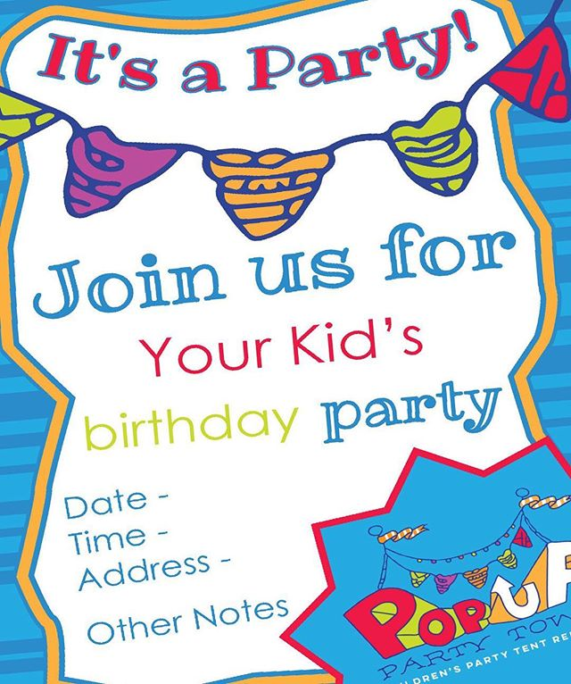 🎉🎊Do you have any ideas for your kid's birthday party? WE DO! How about a Pop Up Party? They're a great value, and if you book now, we will include custom invitation designs! Just check out www.popuppartytown.com for details #kidspartyideas #cistominvitations #customdesign #party #popupparty #popuppartytown