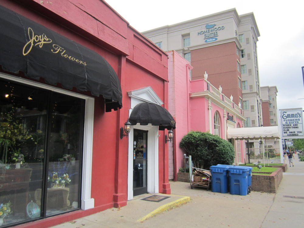 Joy's Flowers and its next door neighbor, Emma's Flowers & Gifts, nestled cozily on West End.