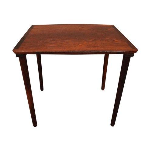Vintage Danish Mid Century Modern Rosewood Side Table