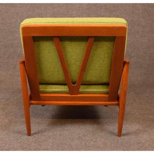 Vintage Danish Mid Century Modern Teak Lounge Chair Aymerick Modern