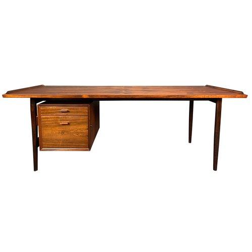 Vintage Danish Mid Century Modern Rosewood Desk By Arne Vodder For