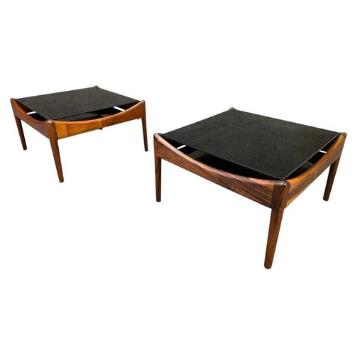 Pair Of Vintage Mid Century Modern Rosewood Modus Side Table By Kristian Vedel