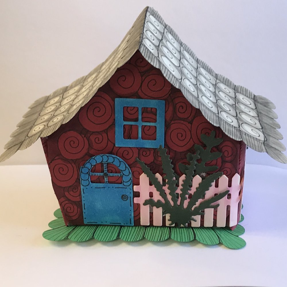Tiny houses - Create a charming Tiny House. A pre-cut basic form will be provided for you to decorate however you like! It can be tangled, colored, or whatever your imagination guides you to do.