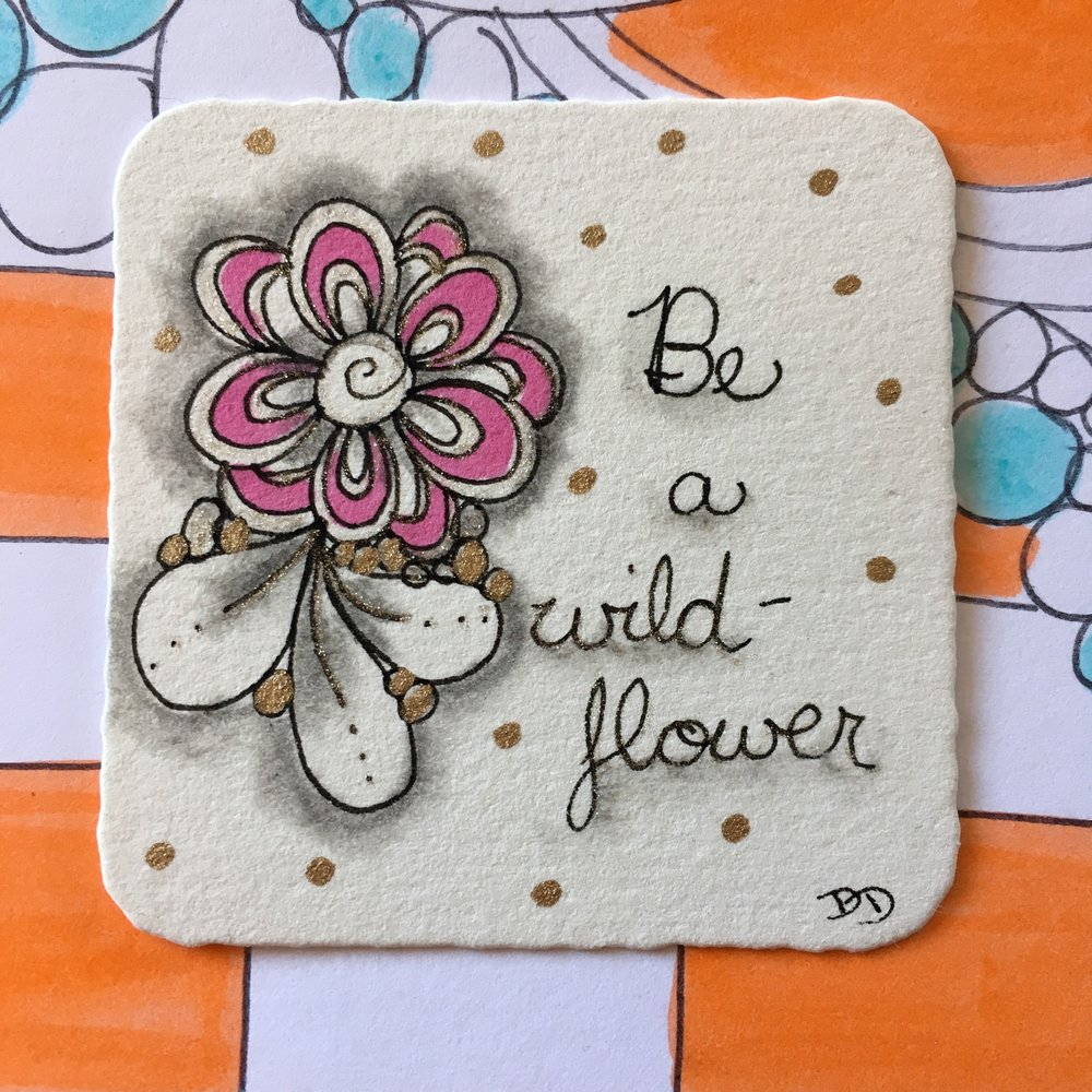 Flower Power - Learn how to create sweet flowers with repetitive patterns. Then embellish them with markers, jewels, and sparkly pens!