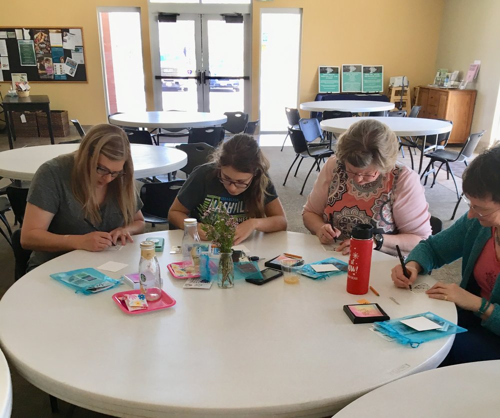 Church Retreats - Perfect for a church women's group, you can have an activity customized to match your theme or message. Ideas include art instruction to create cards, ornaments, or Mini-Monets.