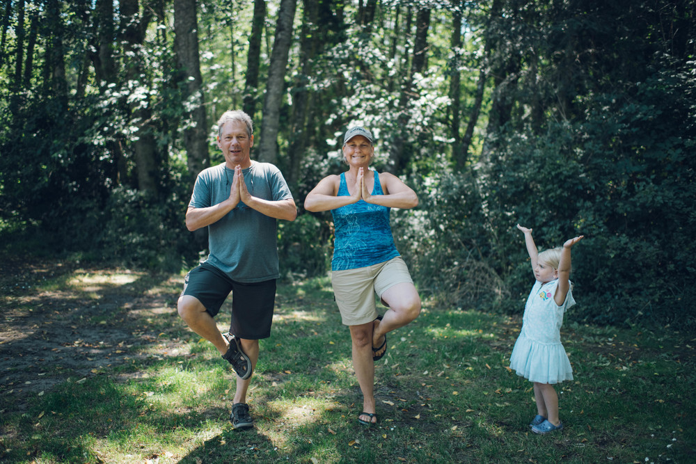 It's important to teach your grandparents yoga on camping trips.  Noted!