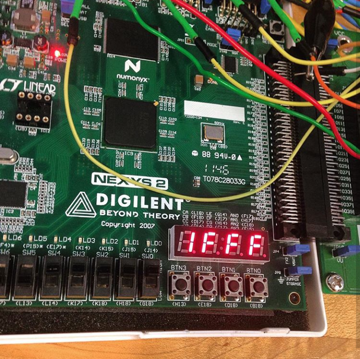 Seven Segment Display exercise on an FPGA.