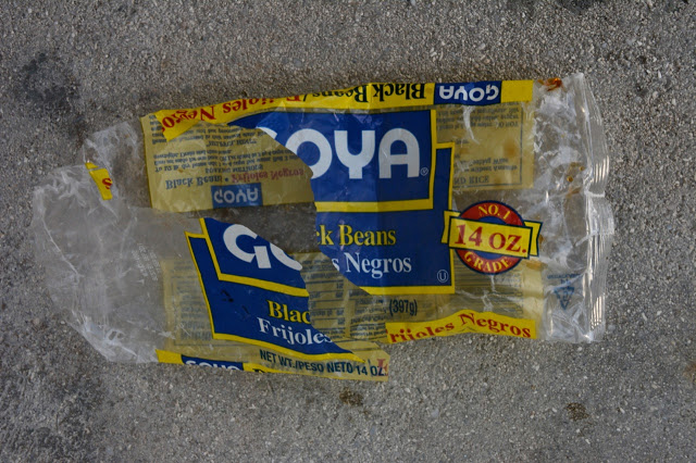 Goya black bean packaging, post-consumption