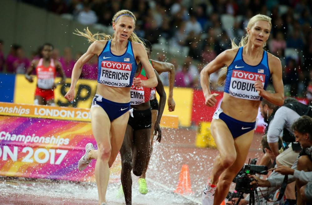 Courtney and Emma Coburn at the 2017 World Championships where they went 1-2.
