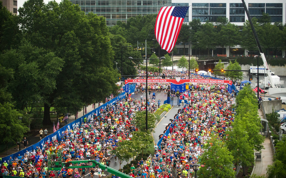 Huge crowds at the AJC Peachtree 10k