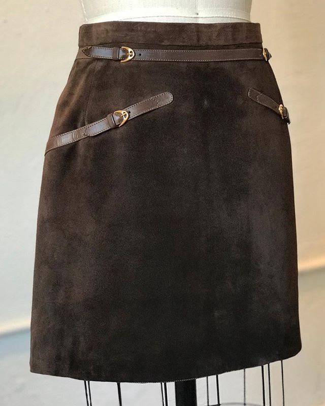 Circa 1969 #gucci suede mini skirt. Exclusive @acurrentaffair December @cooperdesignspace