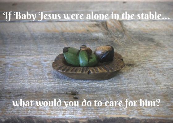 Baby Jesus alone