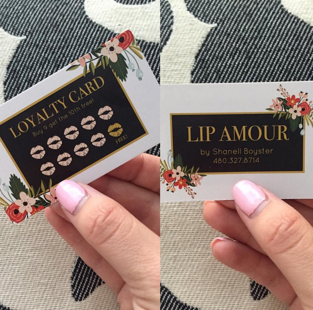 Lip Amour Loyalty Business Card — Emma Le Creative