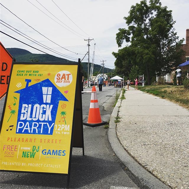 Great block party today on pleasant st.