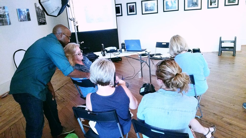 Matt Odom teaching Amplify members how to photograph their work.jpg