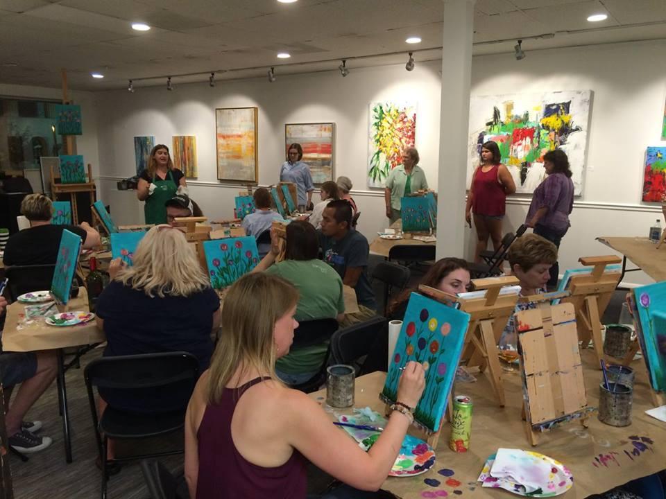 Paint & Sip Events -