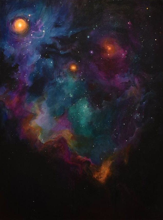 "Cosmic , Acrylic on canvas, Casie Trace, 36"" x 48"""