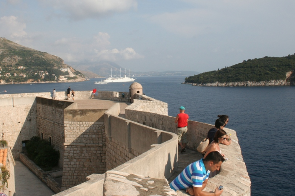 walking the wall in dubrovnik