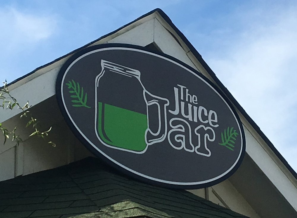 The Juice Jar in Corolla - Locally owned and operated, the Juice Jar composts, use their own ingredients from their garden, use compost-able cups and straws, and encourage health!