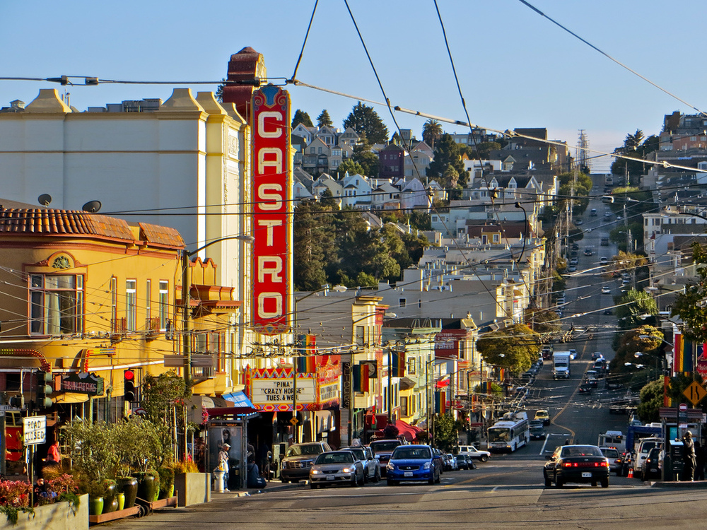 Castro Street, the heart of Eureka Valley (Photo courtesy TorbakHopper, Flickr.com)