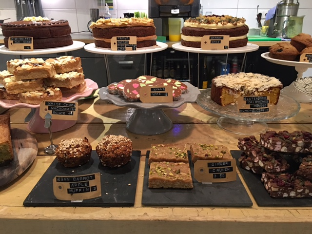 they offer a daily selection of homemade treats & cakes, including vegan options