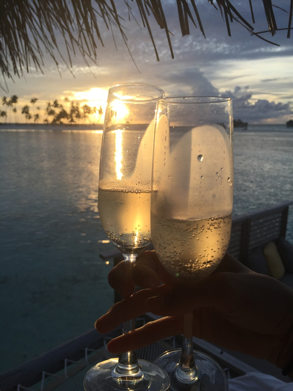 Cheers to an incredible honeymoon!