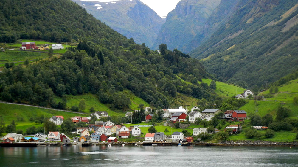 The tiny and charming village of Flam, Norway